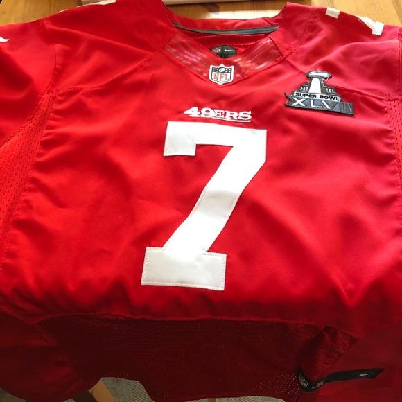 on sale 9c3a1 2fece San Francisco Colin Kaepernick Super Bowl Jersey NWT